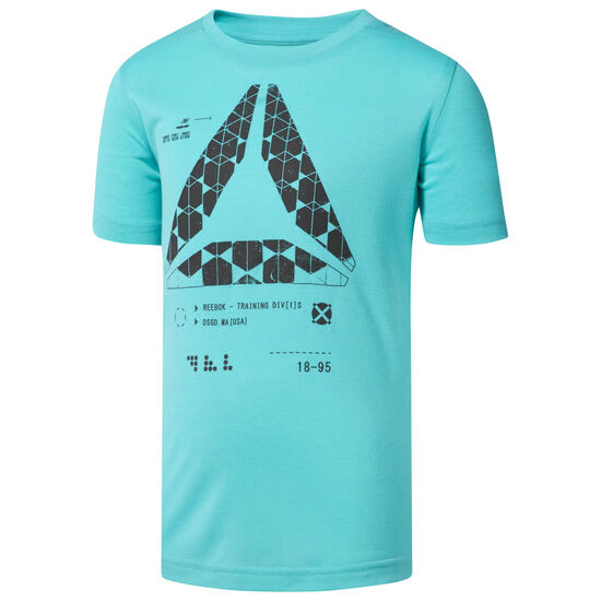 Reebok - Boys Graphic Tee Turquoise/Solid Teal CF4194