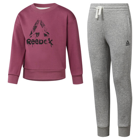 Reebok - Girls Training Essentials French Terry Tracksuit Twisted Berry DH4336