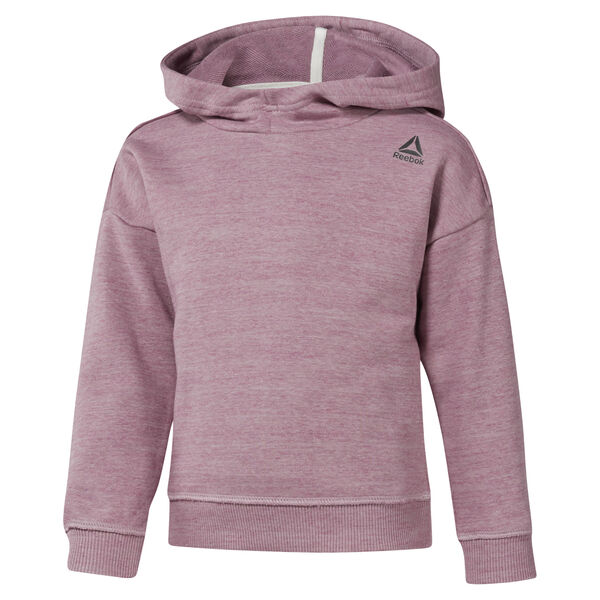Girls Training Essentials Marble Melange Hoody Pink DJ3053