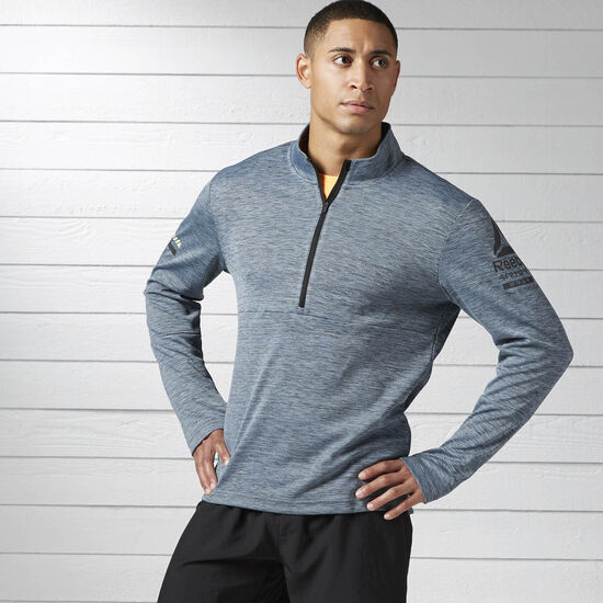 Reebok - Running Long Sleeve 1/2 Zip Gable Grey B47138