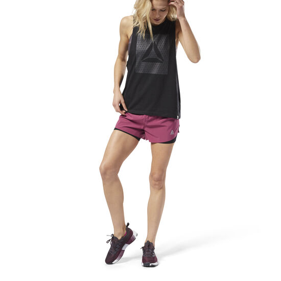 Reebok - 2-in-1 Perforated Shorts Twisted Berry D94137