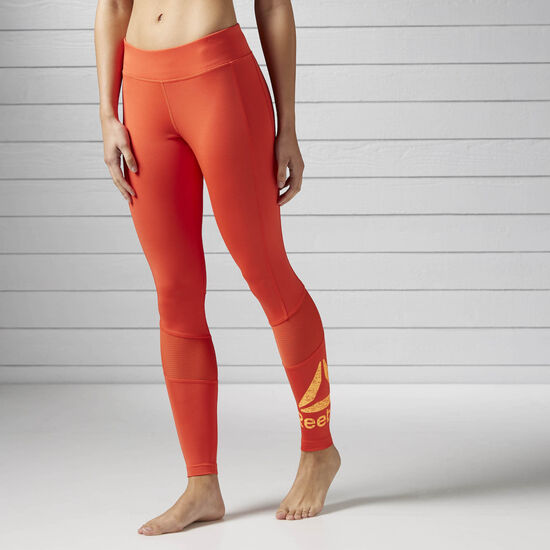 Reebok - Workout Ready Graphic Legging Carotene/Fire Spark BK5085