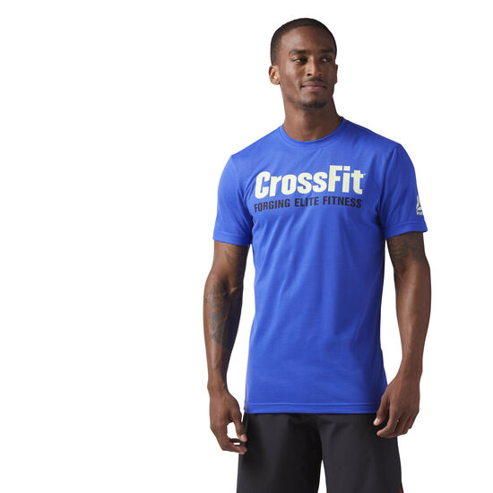 Reebok - Reebok CrossFit Speedwick F.E.F. Graphic Tee Acid Blue CF4545