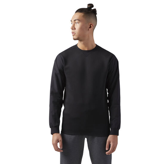 Reebok - Training Supply Crewneck Sweatshirt Black CD5186