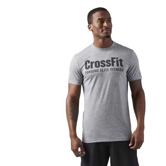 Reebok - Reebok CrossFit Speedwick F.E.F. Graphic Tee Medium Grey Heather/Coal CF4544