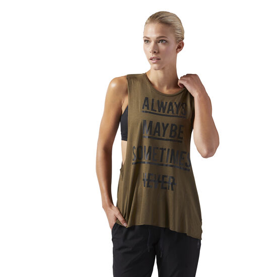 Reebok - Training Supply Muscle Tank Army Green CD3857