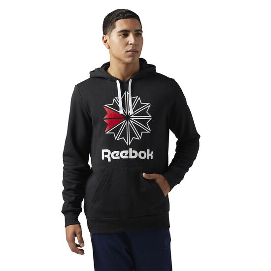 Reebok - Reebok Classics Big Logo Hoodie Black BR5021