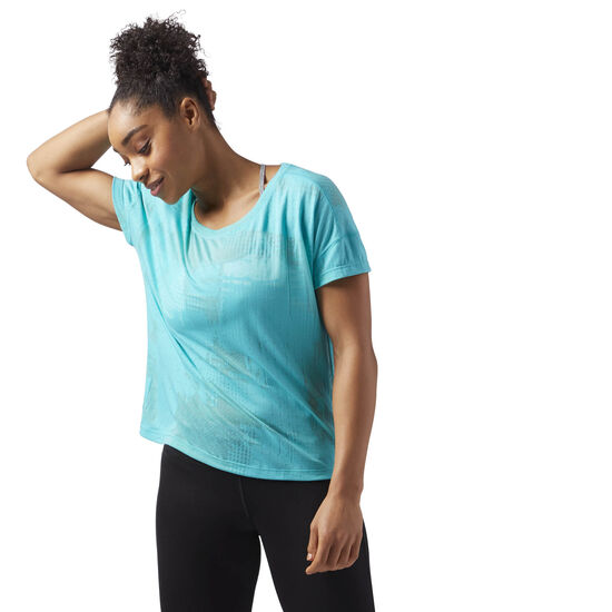 Reebok - Speedwick Women's T-Shirt Turquoise/Solid Teal CF5881