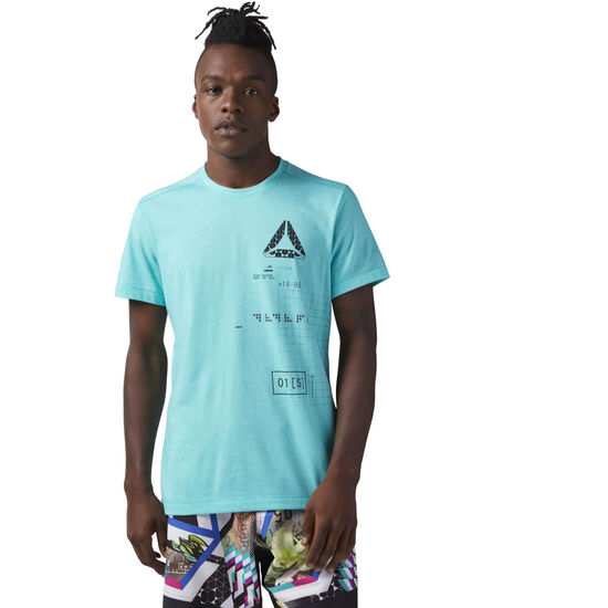 Reebok - Speedwick Graphic Tee Turquoise/Solid Teal CF3741