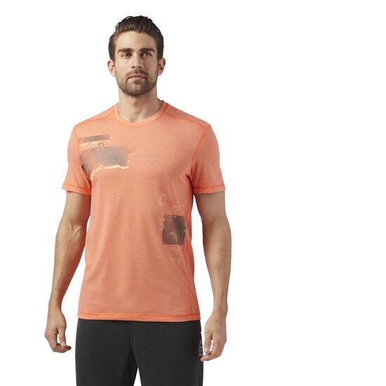 Reebok - Reebok CrossFit Burnout Tee Orange/Bright Lava CD7607