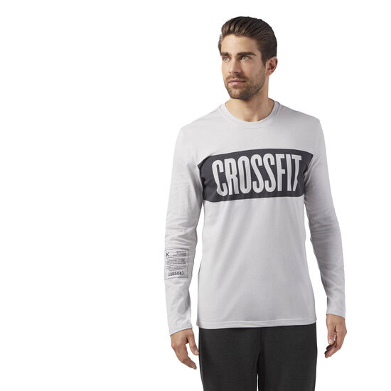 Reebok - Reebok CrossFit Stripes LS T-Shirt Skull Grey CF4553