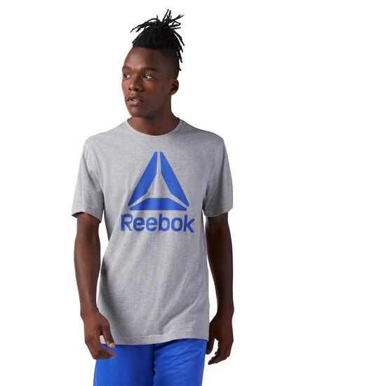 Reebok - Stacked Logo Tee Medium Grey Heather CF3908