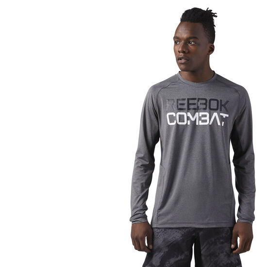 Reebok - COMBAT LONG SLEEVE Dark Grey Heather CE2541