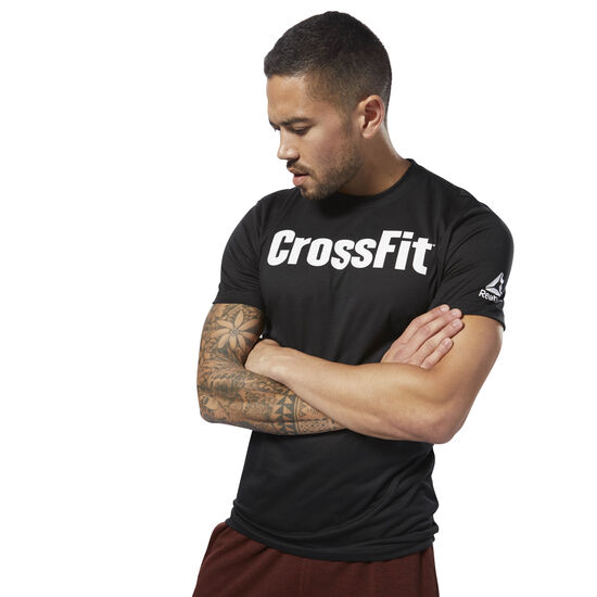 Reebok - Reebok CrossFit Speedwick F.E.F. Graphic Tee Black / White DH3702