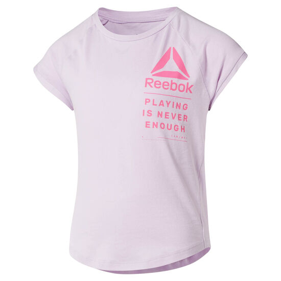 Reebok - Girl's Tee and Shorts Set Moonglow CF4257