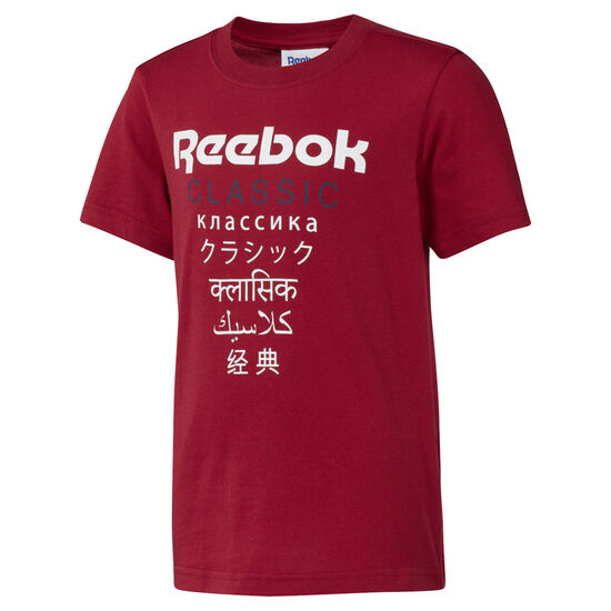 Reebok - Unisex Classics Graphic T-Shirt Cranberry Red DH3244