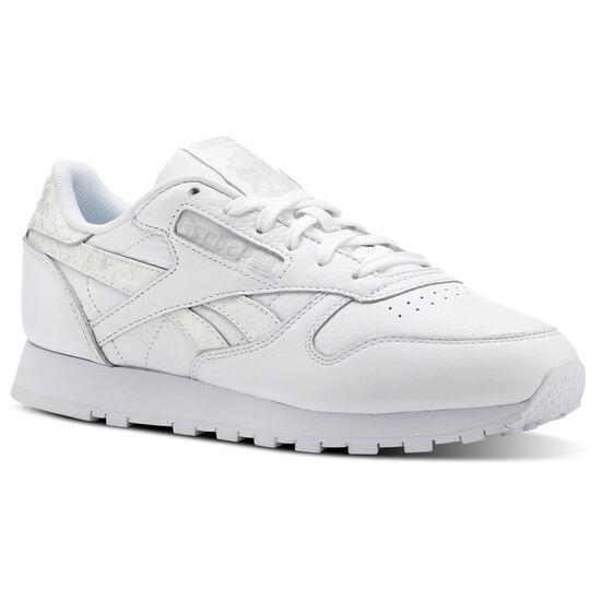 Reebok - Classic Leather Sidestripes-White/Lgh Grey CN4021