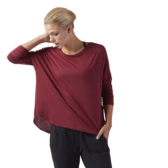 Reebok - Training Supply Long Sleeve Tee Urban Maroon CD3860