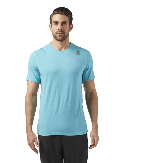 Reebok - Reebok CrossFit Performance Blend Graphic Tee Turquoise/Solid Teal Melange CE2638