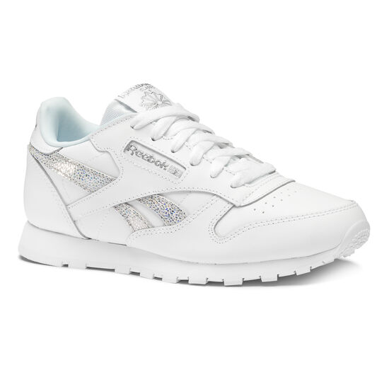 Reebok - CLASSIC LEATHER Ss-White/Dreamy Blue/Tin Gry DV3614