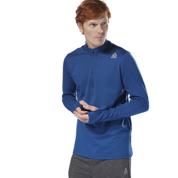 Running Quarter Zip Blue D92925