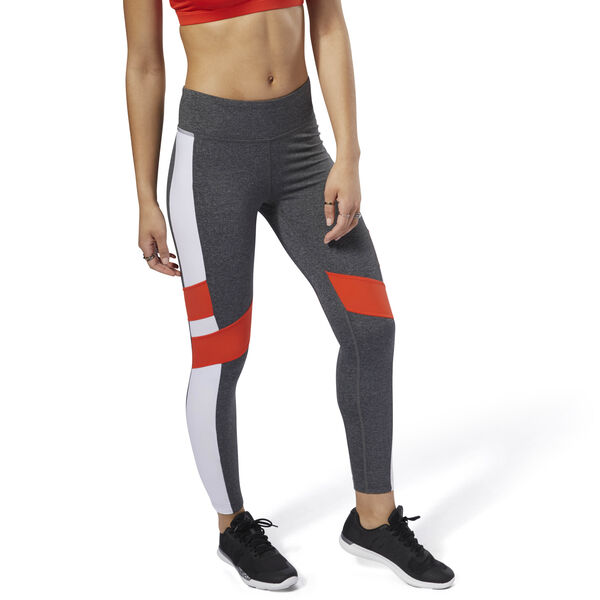 Reebok Lux Leggings - Colour Block Grey DN5896