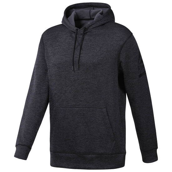 Reebok - Workout Ready Poly Fleece Hoodie Black Heather D94227