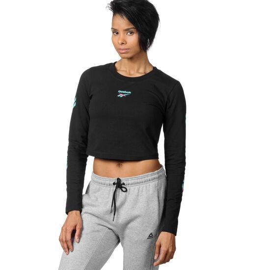 Reebok - Cropped Long Sleeve T-Shirt Black DQ0069