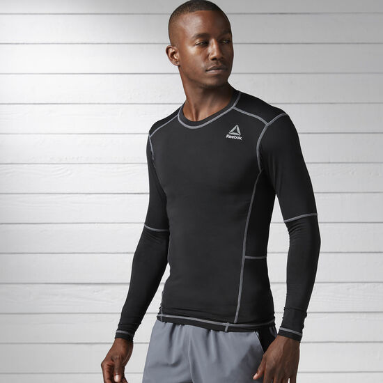Reebok - Work Out Ready Compression Long Sleeve Shirt Black BK4180