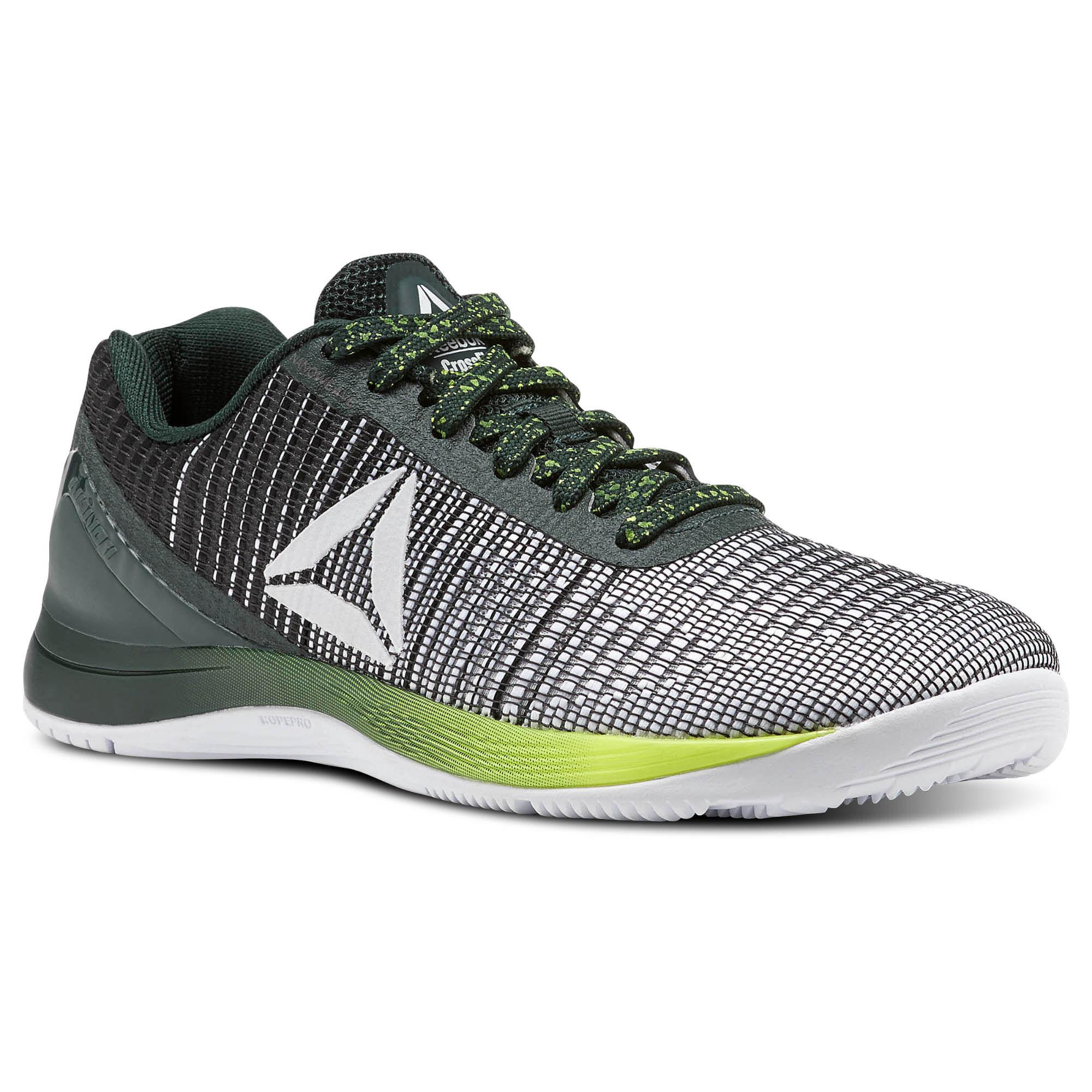 Reebok Training Shoes Cross Fit Nano 7 Weave Neon Pack For Women Black/White/Grey/Yellow CM9520