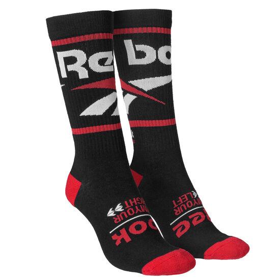Reebok - Classics Vector Graphic Crew Sock Black DN6025