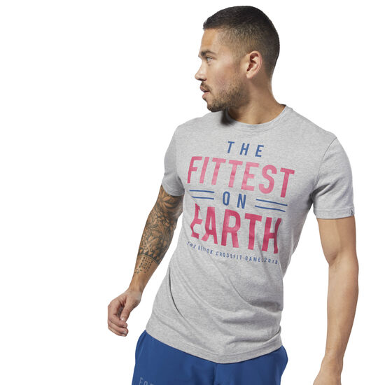 Reebok - Reebok CrossFit 'Fittest on Earth' Tee Medium Grey Heather DN2390