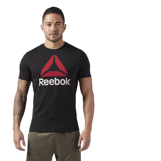 Reebok - QQR- Reebok Stacked Black / Excellent Red CW5368