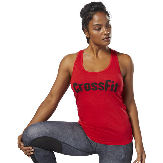 Reebok - Reebok CrossFit F.E.F Graphic Tank Primal Red DP1226