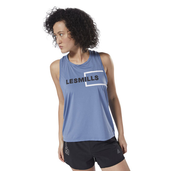 Reebok - LES MILLS™ Perforated Tank Blue Slate DJ2222