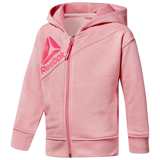 Reebok - Girl's Full Zip Hoodie Squad Pink CF4241