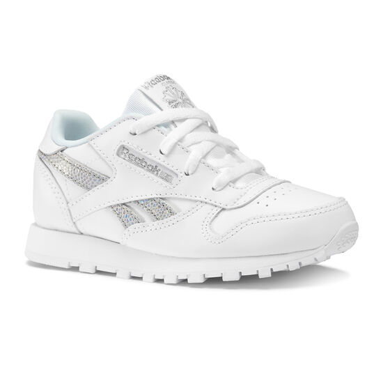 Reebok - CLASSIC LEATHER Ss-White/Dreamy Blue/Tin Gry DV3616