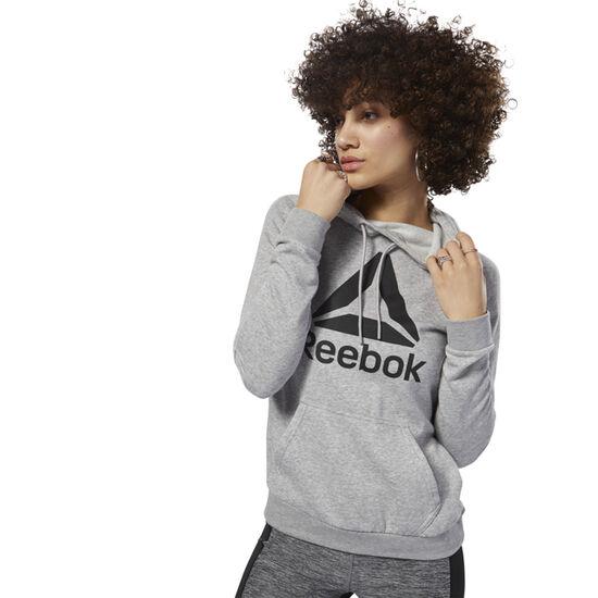 Reebok - Workout Ready Logo Hoodie Medium Grey Heather / Black D95472