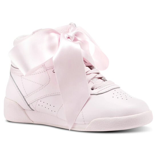 Reebok - Freestyle HI Satin Bow Porcelain Pink/Skull Grey CN2026