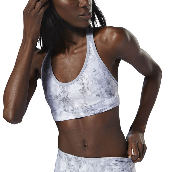 Reebok Hero Run Bra Padded Grey D98849