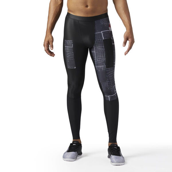 Reebok CrossFit Compression Grid Graphic Tights Black BS1523