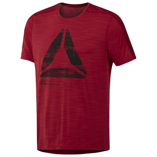 Reebok - ACTIVCHILL Graphic Move Tee Cranberry Red D93803