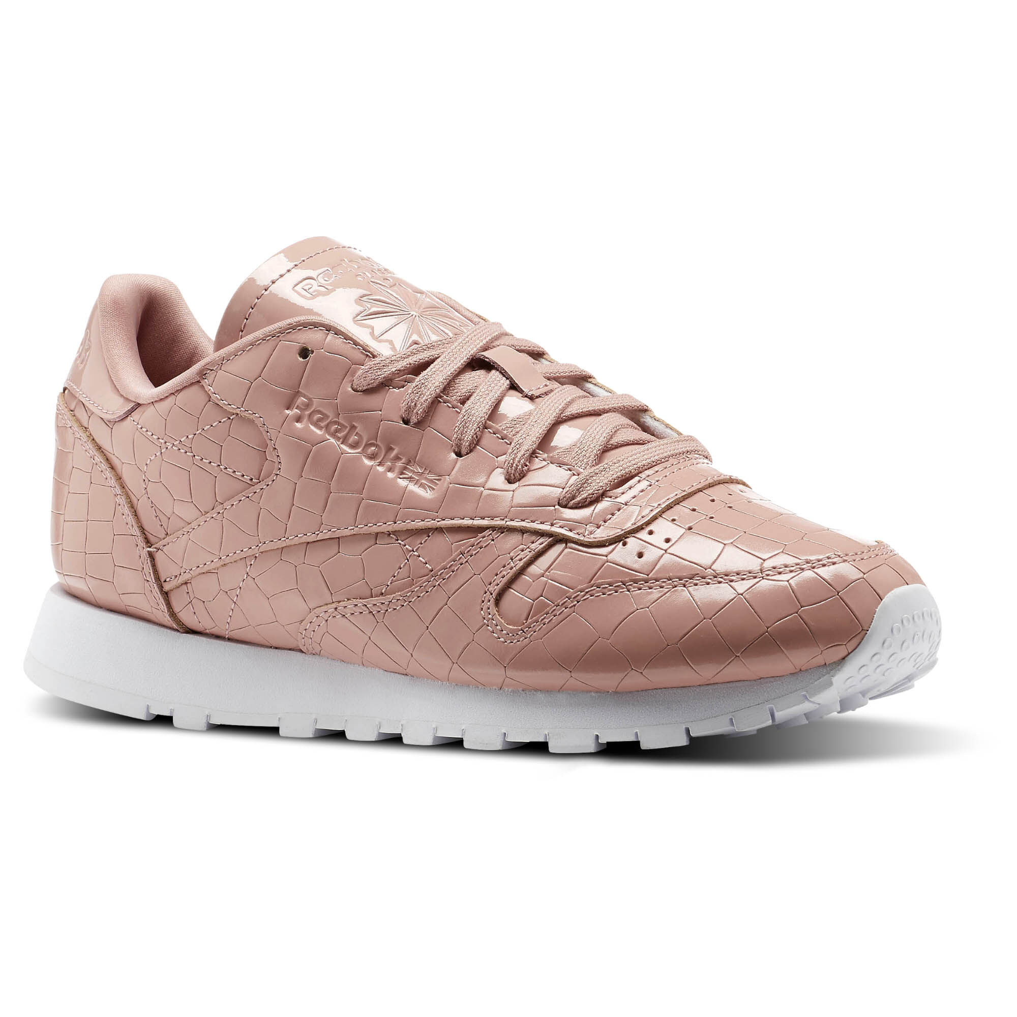 Reebok Classic Leather - Women's Casual - Chalk Pink/White BS9870