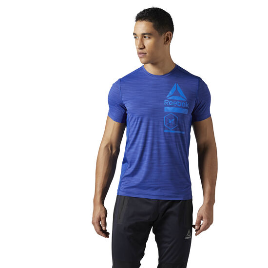 Reebok - ACTIVCHILL Zoned Graphic T-Shirt Deep Cobalt CE6494