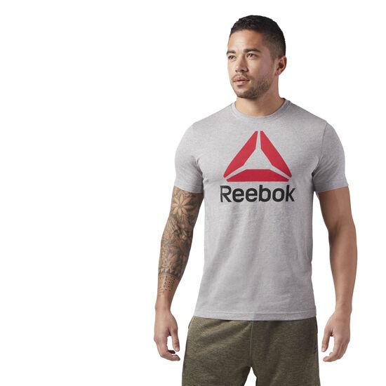 Reebok - QQR- Reebok Stacked Medium Grey Heather CW5366