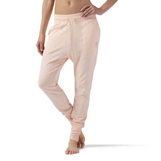 Reebok - High Waisted cotton Jogger Pink/Desert Dust CE2290