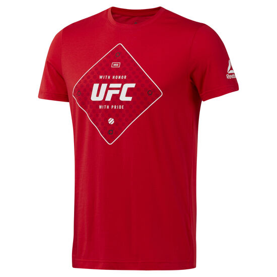 Reebok - UFC Text Tee Primal Red D95025
