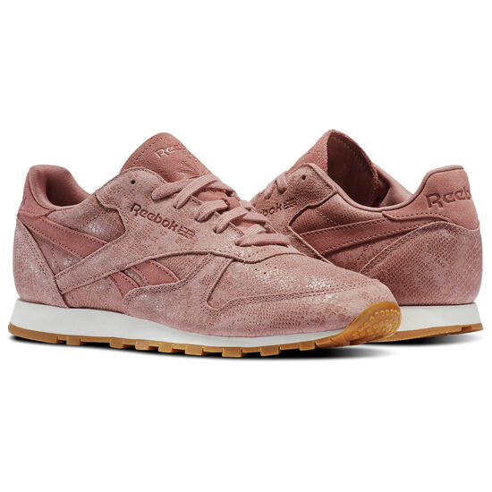 Reebok - Classic Leather Clean Exotics Sandy Rose/Chalk/Gum BS8226