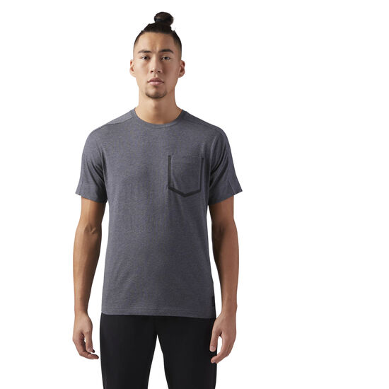 Reebok - Training Supply Move Tee Dark Grey Heather CF3725