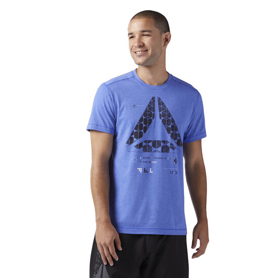 Reebok - Speedwick Graphic Tee Acid Blue CF8038